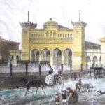 The original Bayerische Bahnhof station.